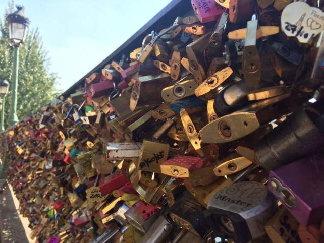 "Locks near Pont des Arts - ""12 Random Observations about Paris, France"" - Two Traveling Texans"