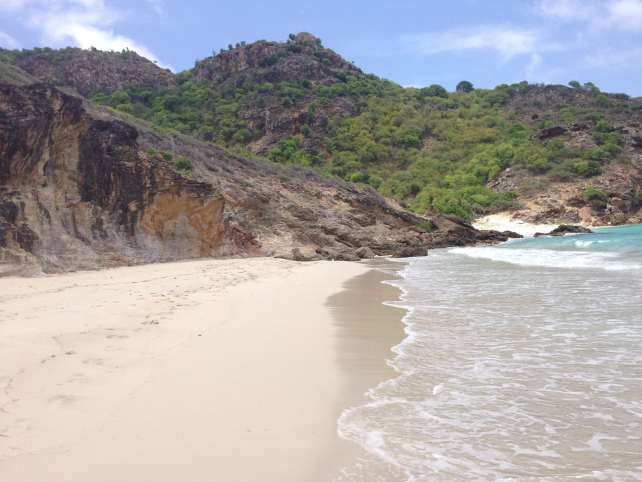 "The beautiful and quiet Saline beach - ""St. Barts for the Day"" - Two Traveling Texans"