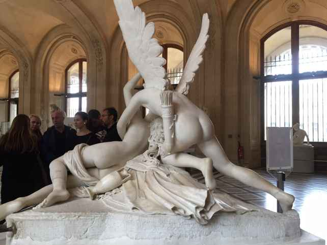 View of Psyche and Cupid from the back