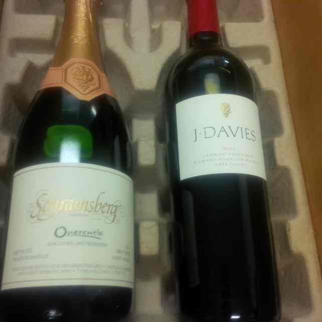 "The wine I received as a member of Schramsberg Winery - - ""10 Wine Tasting Tips and Tricks for Napa Valley"" - Two Traveling Texans"