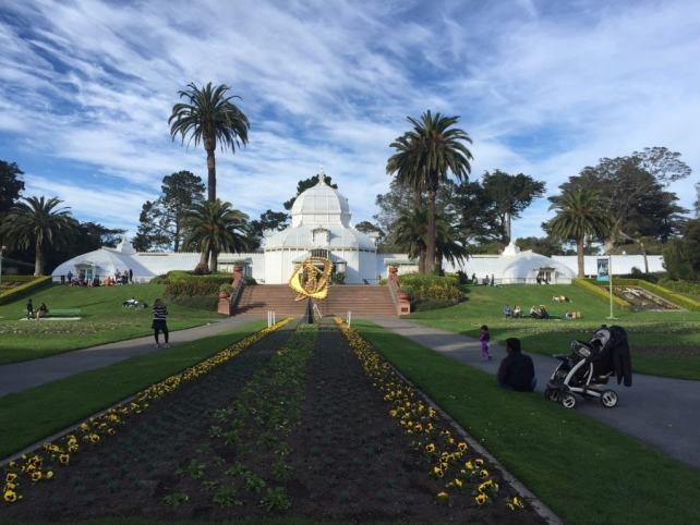 """The Conservatory of Flowers is a beautiful building. - """"Golden Gate Park - More than Your Average Greenspace"""" - Two Traveling Texans"""