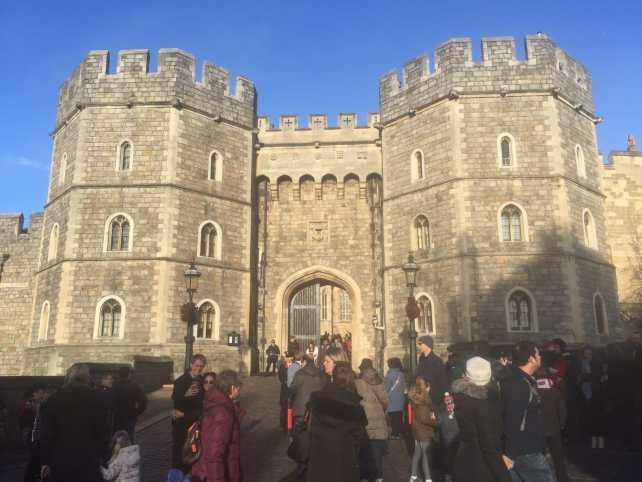 Crowds flock to visit Windsor Castle.