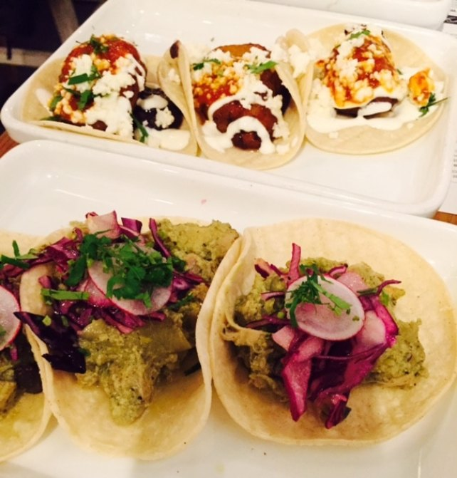 "A selection of tacos, delicious! - ""Mexican Food Finds in London"" - Two Traveling Texans"