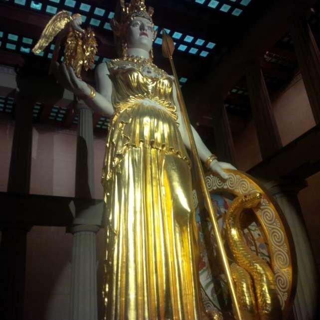The largest indoor sculpture - Athena.