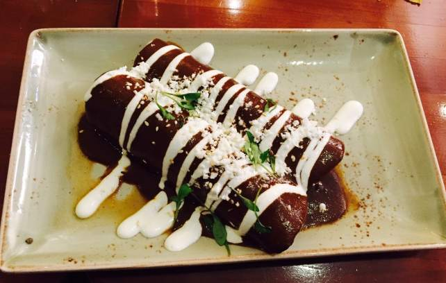 "The enchiladas tasted as good as they look! - ""Mexican Food Finds in London"" - Two Traveling Texans"