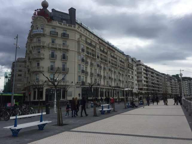Our hotel in San Sebastian, the Hotel de Londres y de Inglaterra,