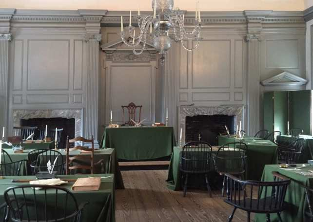 Inside Independence Hall in Philadelphia you feel like you have gone back in time.