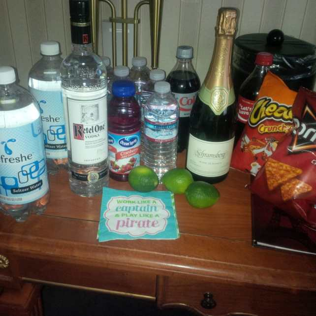 """Our pre-game set-up. - """"Five Tips to Help You Plan A Trip to Vegas"""" - Two Traveling Texans"""