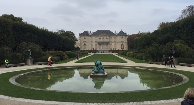 "Looking back at the Hotel Biron from the garden at the Musee Rodin - ""Rodin Around the World"" - Two Traveling Texans"