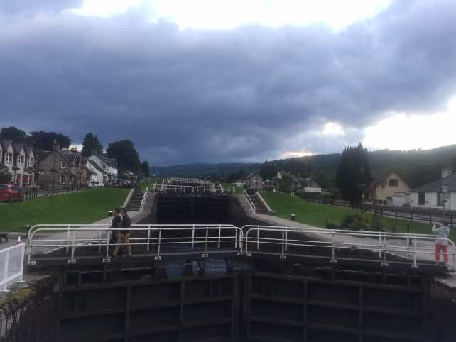 """The locks of the Caledonian Canal - """"Loch Ness: Searching for Nessie"""" - Two Traveling Texans"""