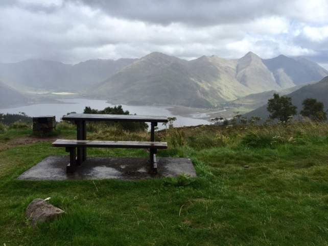 "We spotted this picture perfect picnic place on our way back. - ""The Journey Over the Sea to Skye"" - Two Traveling Texans"