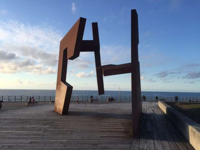 "I was really impressed by this sculpture called Open Construction by Jorge Oteiza. -""San Sebastian's Monte Urgull is Worth the Hike!"" - Two Traveling Texans"