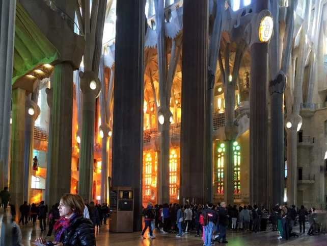 """You can see the amazing light from the stained glass window. - """"Why I Fell in Love With Gaudi in Barcelona"""""""