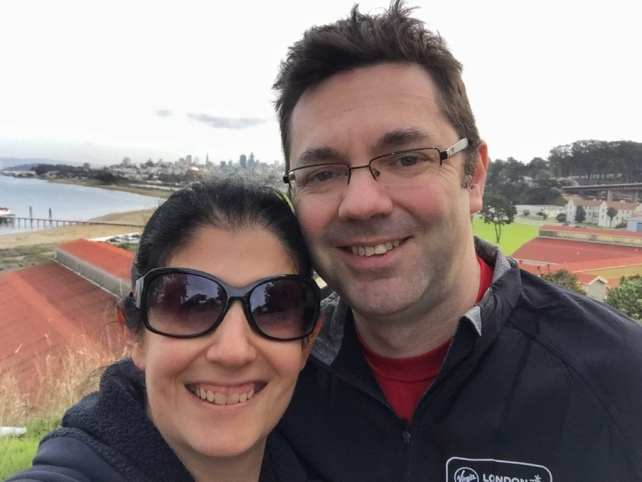 "Obligatory selfie we took in Sausalito. You can see San Francisco in the background.- Biking Across the Golden Gate Bridge: Another off my Bucket List!"" - Two Traveling Texans"