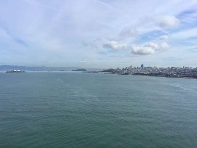 "From the Golden Gate Bridge, you can see San Francisco, Alcatraz, and even the Bay Bridge way in the distance. - ""Biking Across the Golden Gate Bridge: Another off my Bucket List!"" - Two Traveling Texans"