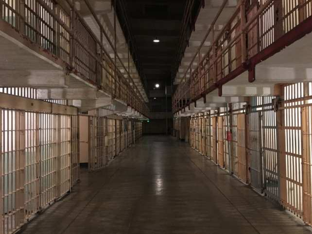 "One of the aisles inside Alcatraz. We were lucky to catch it empty. - ""Spend One Night at Alcatraz"" - Two Traveling Texans"