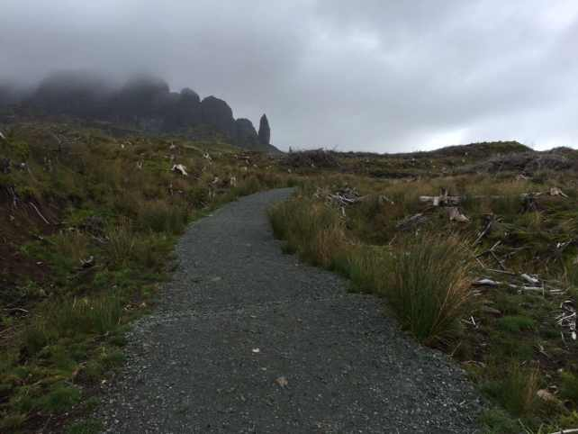 "You can see the clouds are moving in. - ""Old Man of Storr: Hiking in the Clouds"" - Two Traveling Texans"
