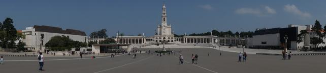 "You can get an idea of the size of the plaza from this photo. It's huge! The church is the Basilica of Our Lady of the Rosary. ""Fatima Pilgrimage: 100 Years and Counting"" - Two Traveling Texans"