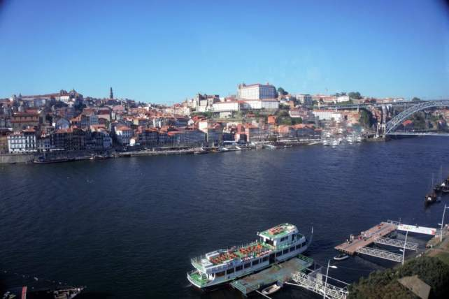 """View of the old town from the cable car. - """" Port House Visits and Cable Cars"""" - Two Traveling Texans"""