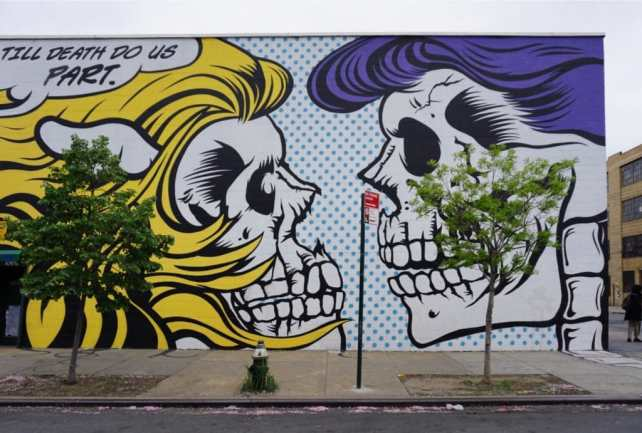 """The style is very pop art but it has the edgy street vibe. - """"Brooklyn Graffiti and Street Art Tour"""" - Two Traveling Texans"""