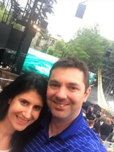 "Anisa and Russell by the Shakespeare in the Park Stage before a performance of The Tempest. - ""The Best Free Summer Events in NYC"" - Two Traveling Texans"
