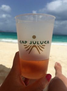 "Glass of Rosé at Cap Juluca - ""Beach Day Trip to Anguilla"" - Two Traveling Texans"
