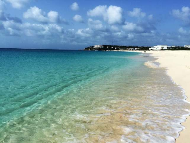 "Meads Bay Beach is another beach with white sand and crystal clear water. - ""Beach Day Trip to Anguilla"" - Two Traveling Texans"