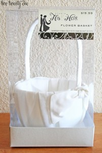 Flower Girl Basket Two Twenty One