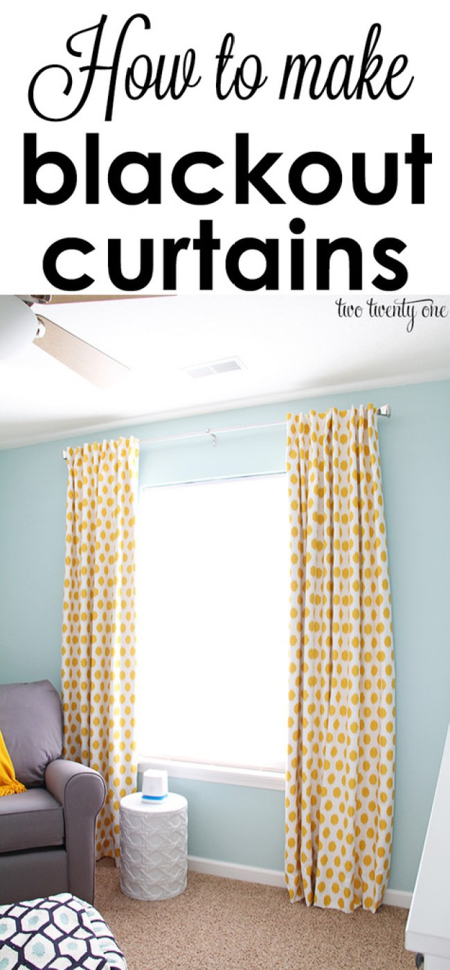Sewing blackout curtains for Curtain making service
