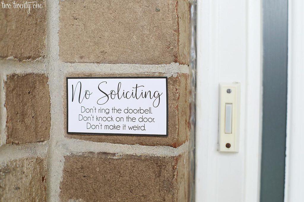 No Soliciting Sign Free Printable