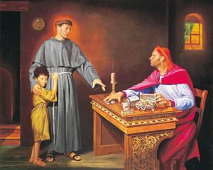 St Anthony condemning usury