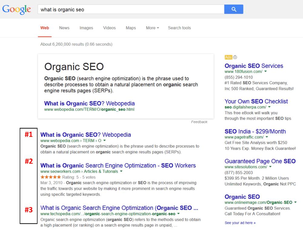 What is Organic SEO? (3/5)