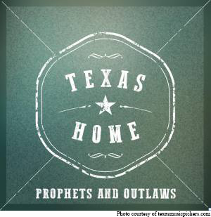 Album artwork depicts Prophets and Outlaws' Texas Home ep, named after the single.