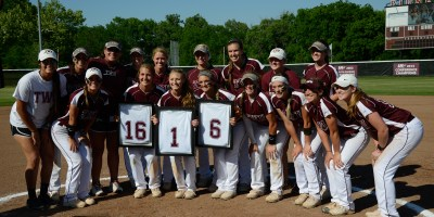 Between the Saturday games against WT, the Pioneers recognized their senior players, Laura Mabary, Tealey Farquhar and Sydney Hester.
