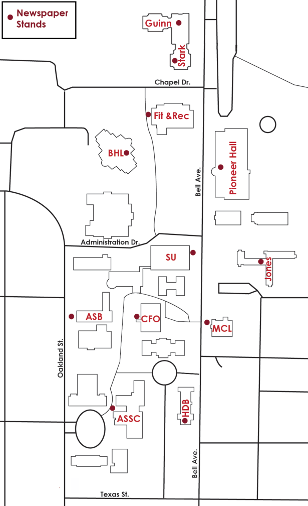 The Lasso Locations on Campus Map