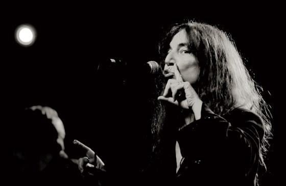 Patti Smith, cantante y poeta. Valencia.