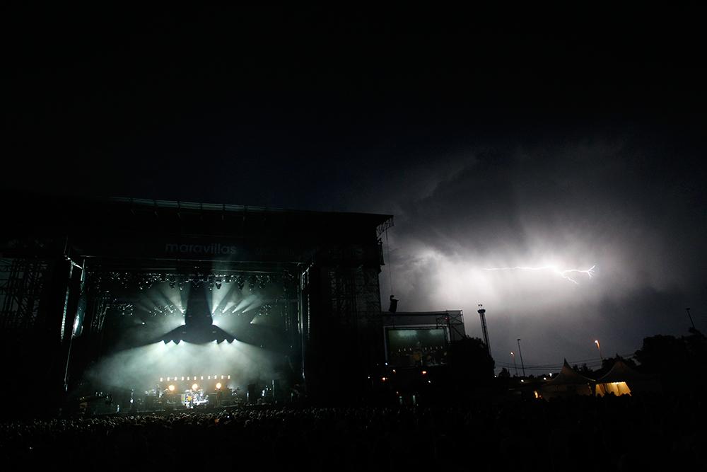 Rayos en el concierto de Paul Weller
