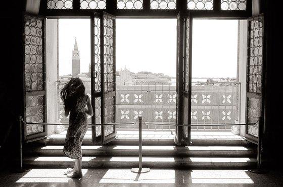 Y lo que se ve cuando eres libre, poderoso, brilla el sol y estás frente a la isla de San Giorgio Maggiore.