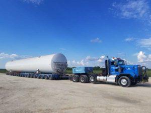 LNG equipment transportation
