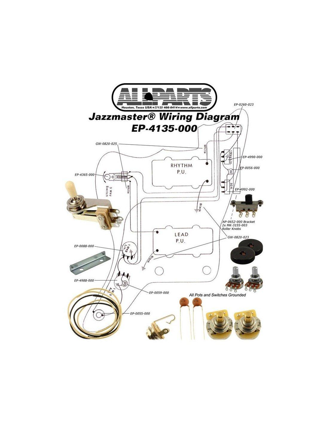Comprar Allparts Ep 000 Wiring Kit For Jazzmaster