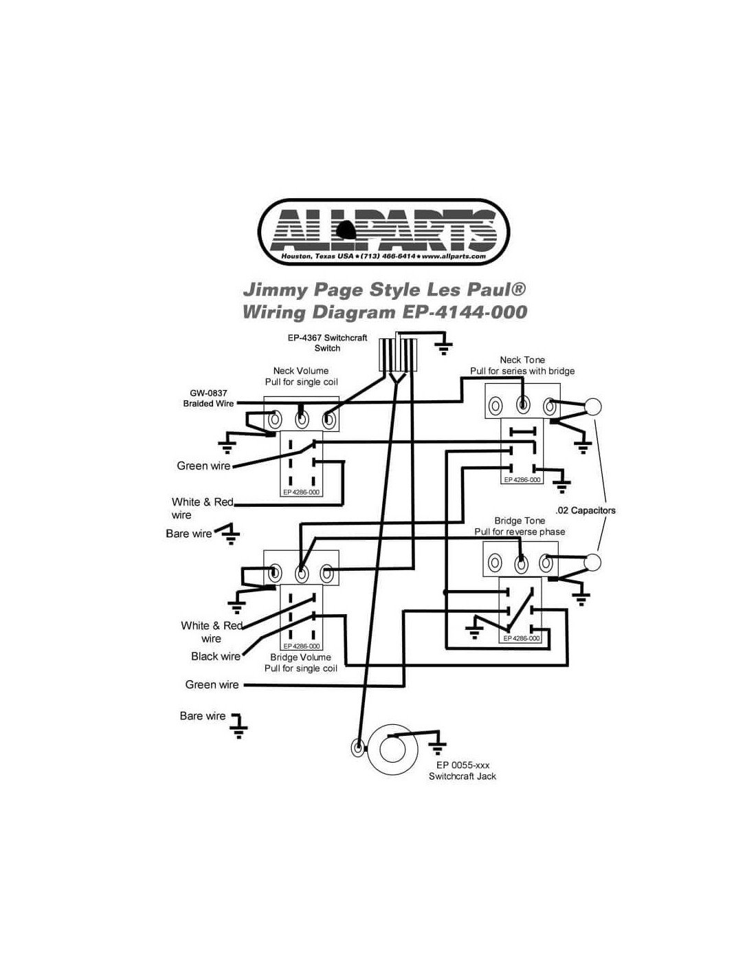 Comprar Allparts Ep 000 Wiring Kit For Jimmy Page