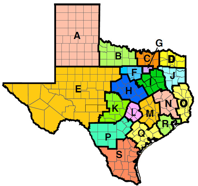District Map Of Texas.District Map Texas State Genealogical Society