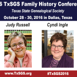 TxSGS 2016 Conference Featured Speakers