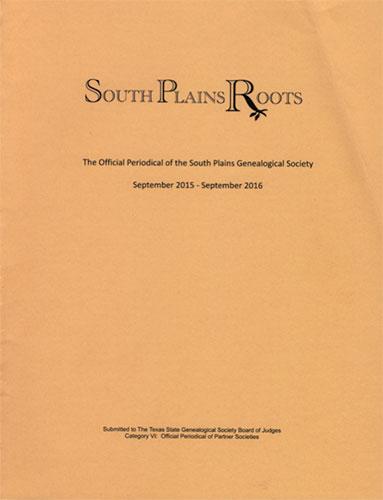 2016 Newsletter Winner South Plains Roots