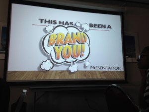 Bruce Bendinger ended his presentation on branding by opening the floor to student questions.