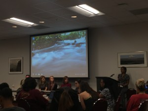 A panel of 4 design media professionals answer questions during Texas State University's Mass Comm Week.