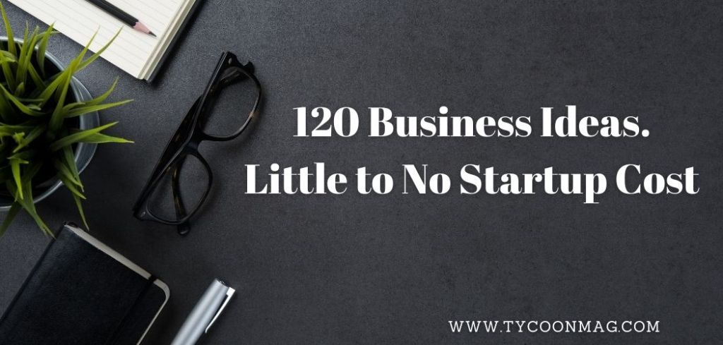 Featured Image - business ideas with little to no startup costs
