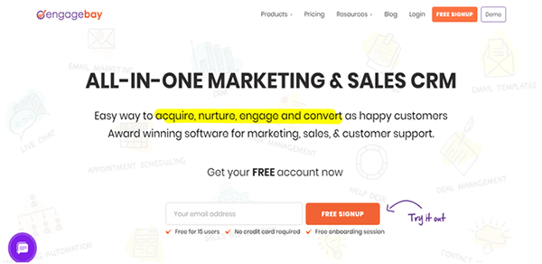 EngageBay marketing automation software