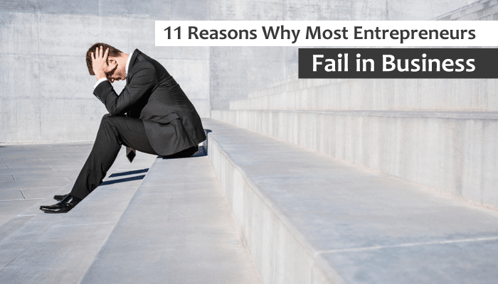11 Reasons Why Most Entrepreneurs Fail in Business