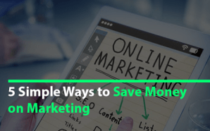 save money on marketing